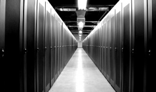 Data center aisle B&W_0