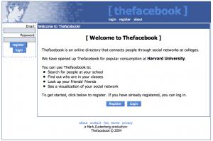 TheFacebook: nombre original lanzado para Universitarios