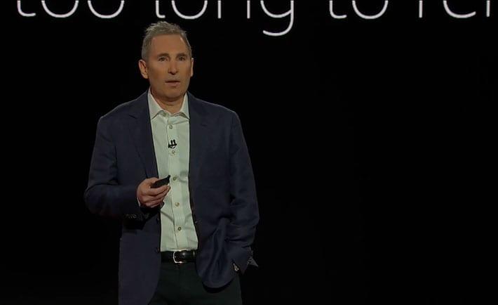Andy Jassy, CEO de AWS durante el Re:Invent 2020.