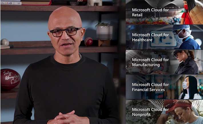 Nubes por industria de Microsoft.