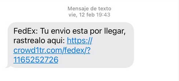 Se detectan diariamente decenas de phishing SMS relacionados con la entrega de paquetes