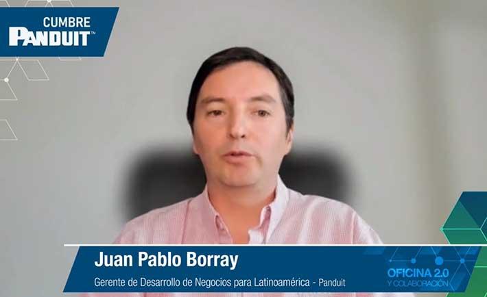 Juan Pablo Borray, Gerente de Desarrollo de Negocios para Latinoamérica de Panduit en la cumbre Oficina 2.0